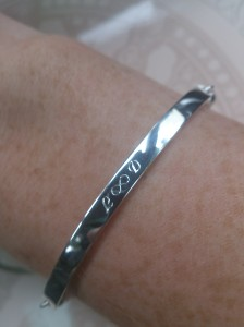 My engraved Love Bridge bracelet from Thomas Sabo