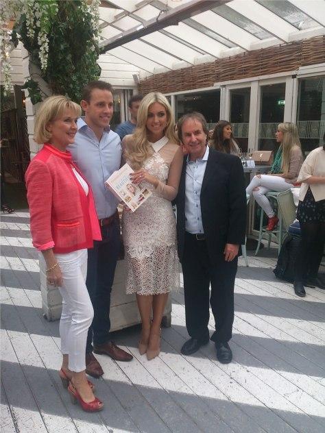 Rosanna Davison and family